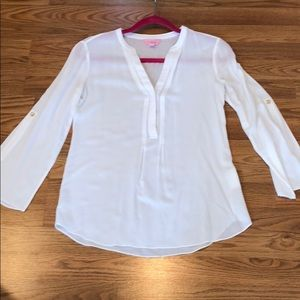 Lilly Pulitzer Blouse - roll sleeve